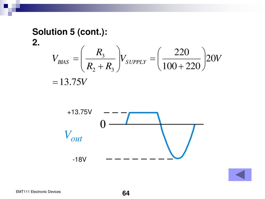 Chapter 2 Diode Applications Ppt Download 18v Bipolar Regulated Power Supply Circuit Is Shown As Above 64 Solution