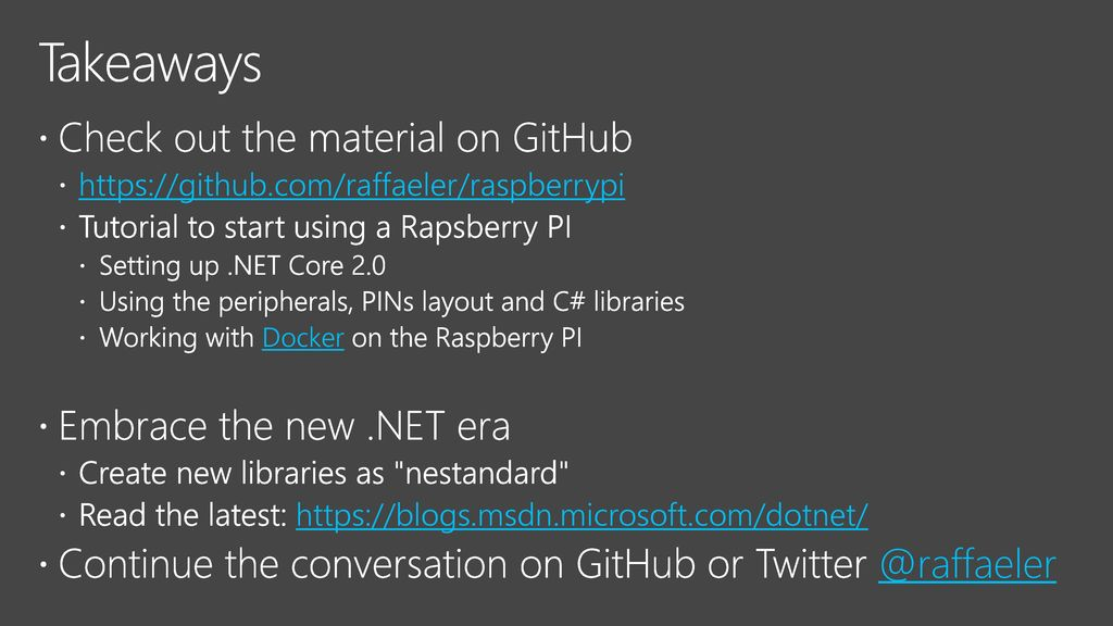 Start developing with  NET Core and the Raspberry PI - ppt