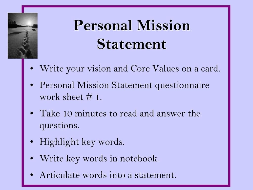 Keeping Focused: Vision, Values, and Mission - ppt download