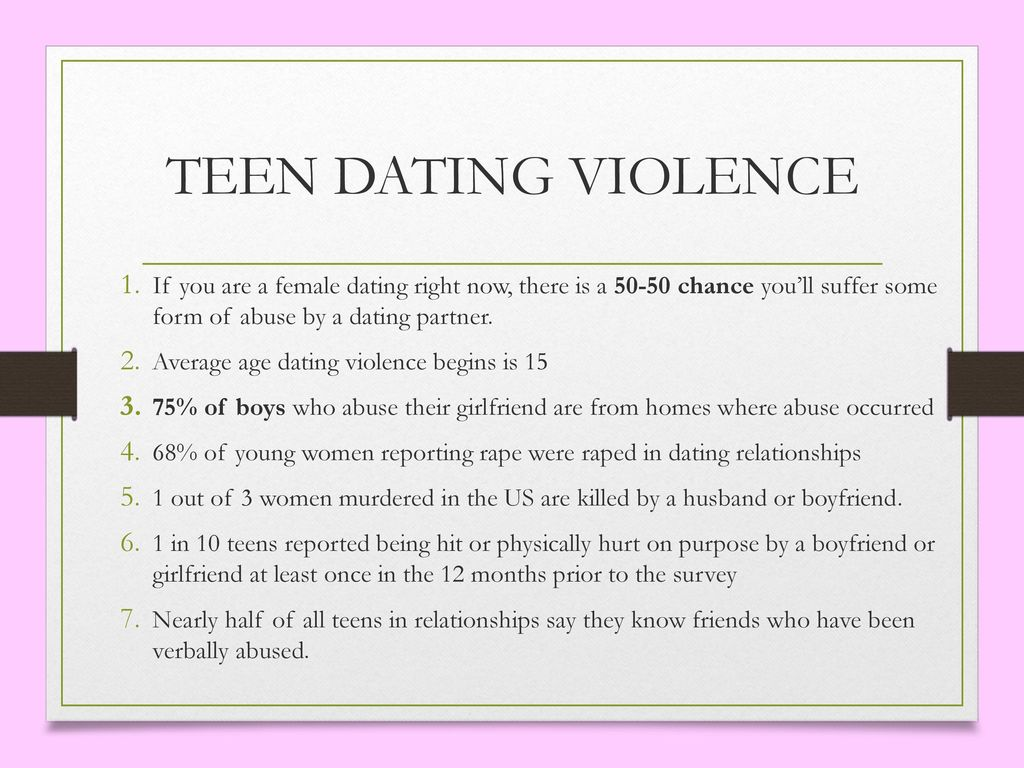Average age for teenage dating