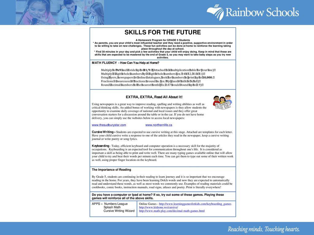 RDSB Homework Program September 9, ppt download