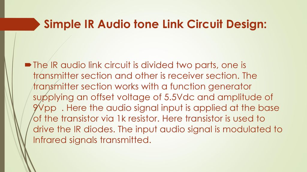 the university of lahore department of computer engineering electric5 simple ir audio tone link