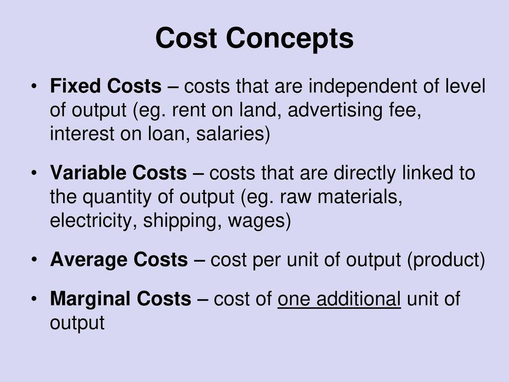 1 Cost