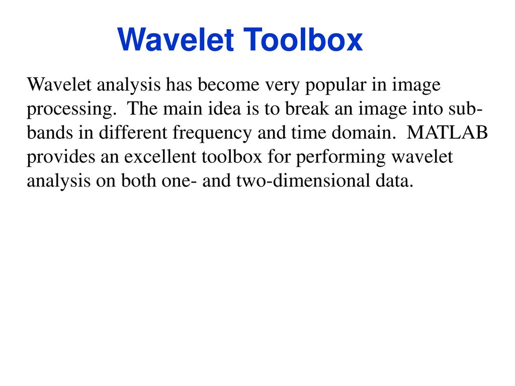 MATLAB Distributed, and Other Toolboxes - ppt download