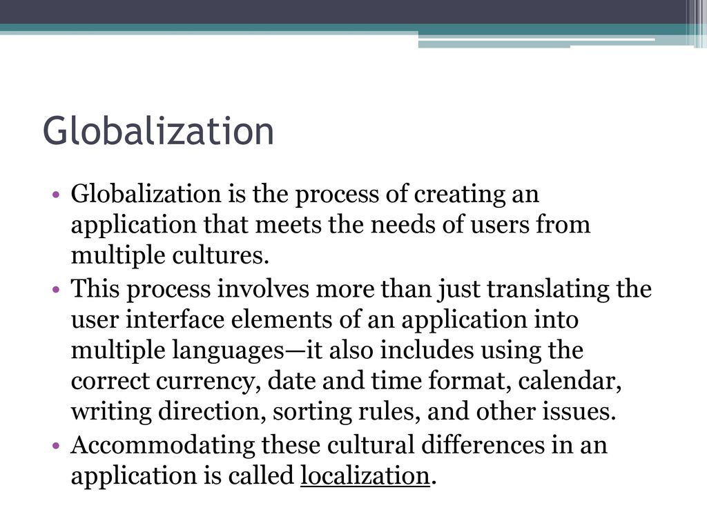 Globalization support in ASP NET - ppt download