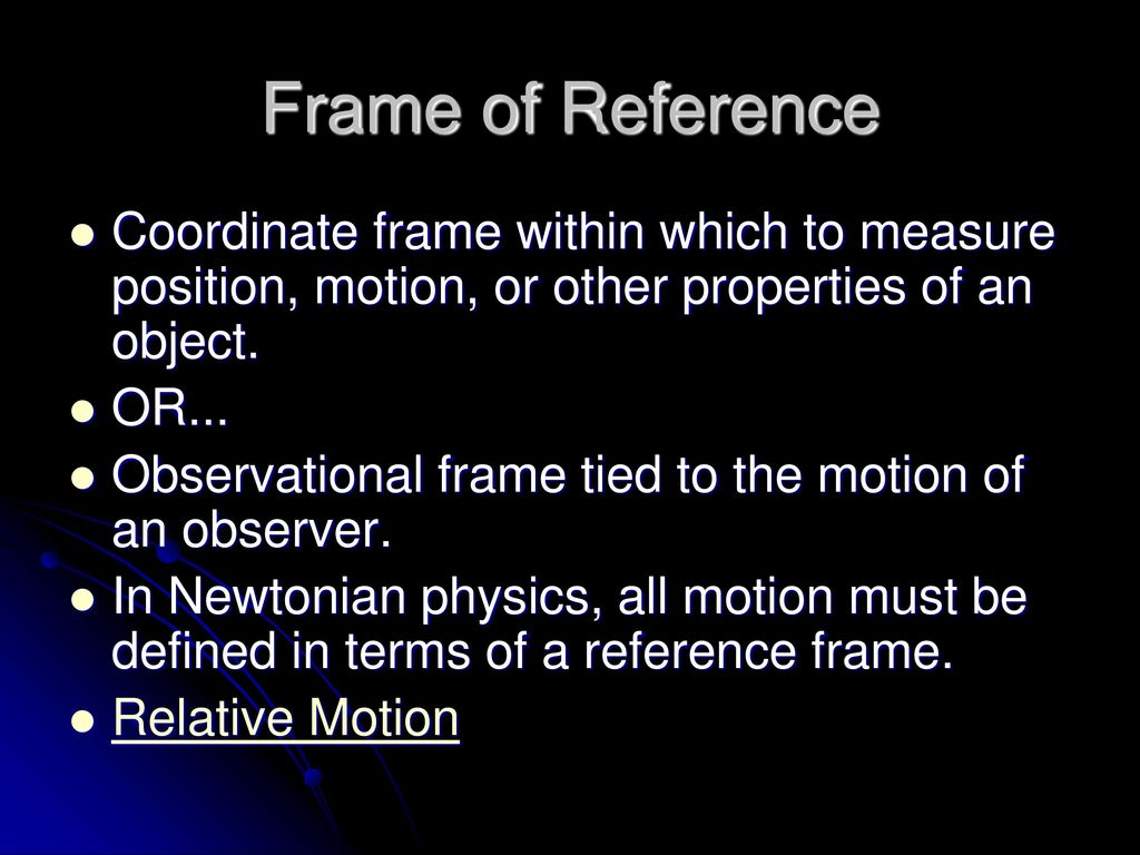 Perfect What Is Frame Of Reference Physics Composition - Ideas de ...
