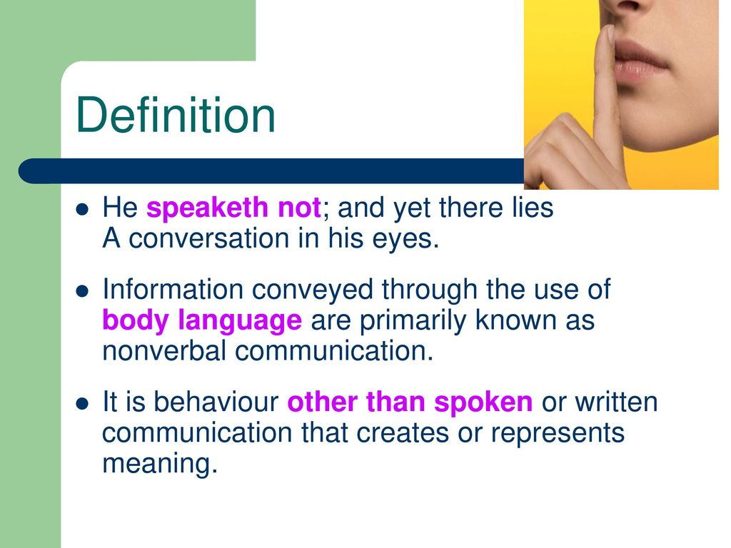 non-verbal communication in teaching - ppt download