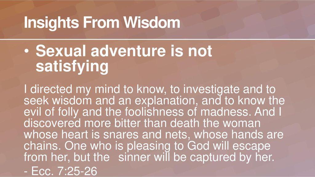 Image result for Ecclesiastes 7: 25-26