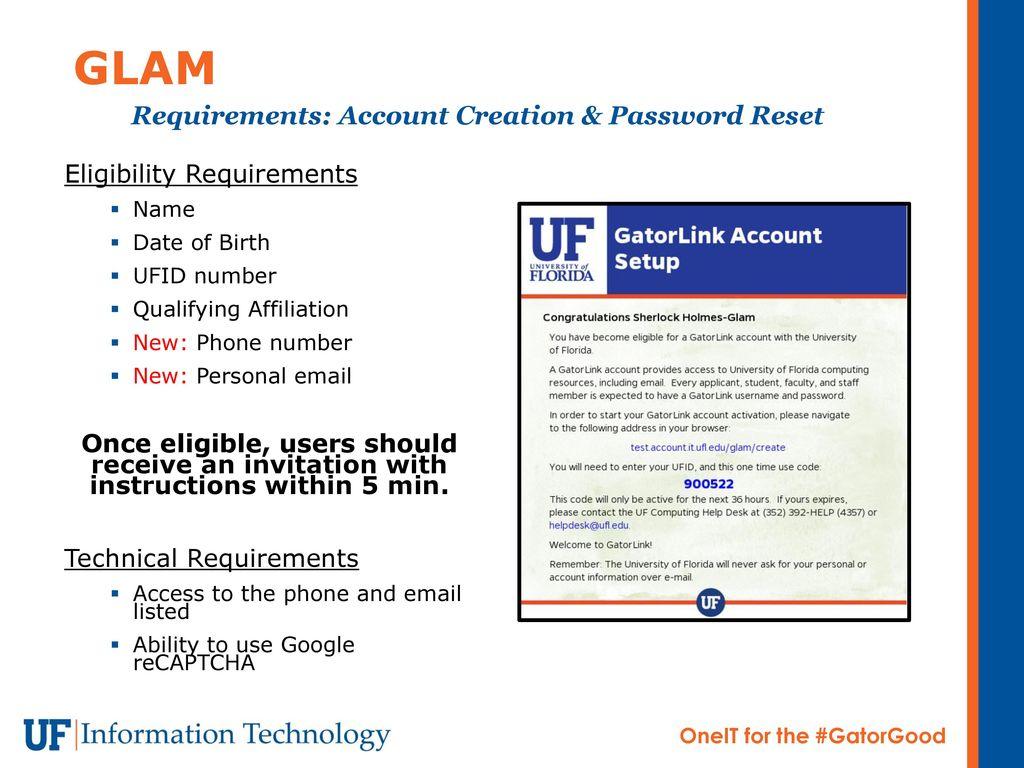 GatorLink Account Management - ppt download