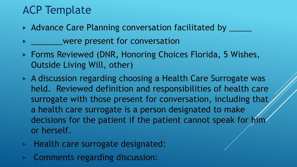 advance care plan template - advance care planning update ppt download