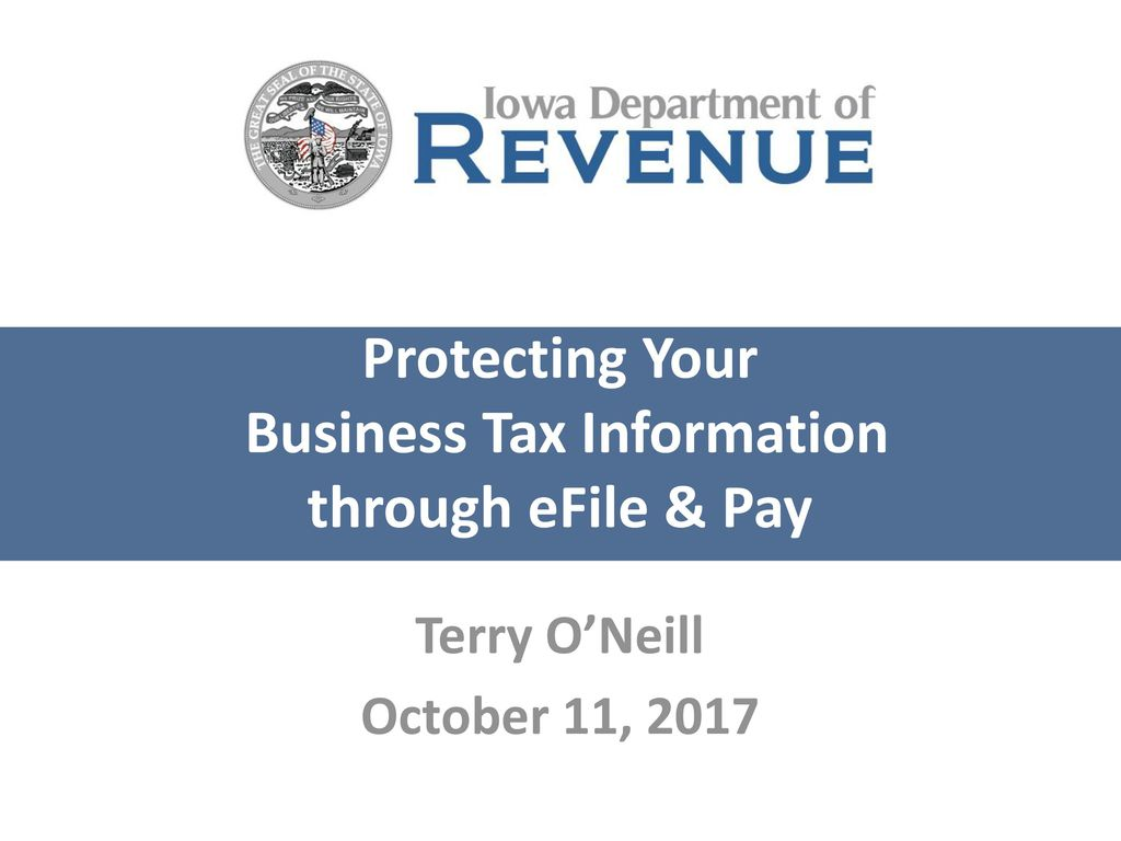 Protecting Your Business Tax Information through eFile & Pay