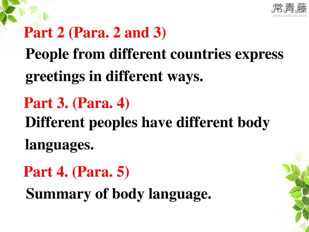 Unit 4 Body Language Reading Ppt Download