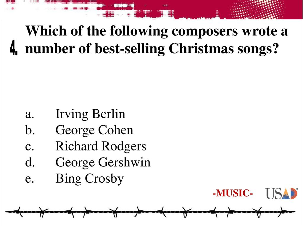which of the following composers wrote a number of best selling christmas songs - Best Selling Christmas Songs