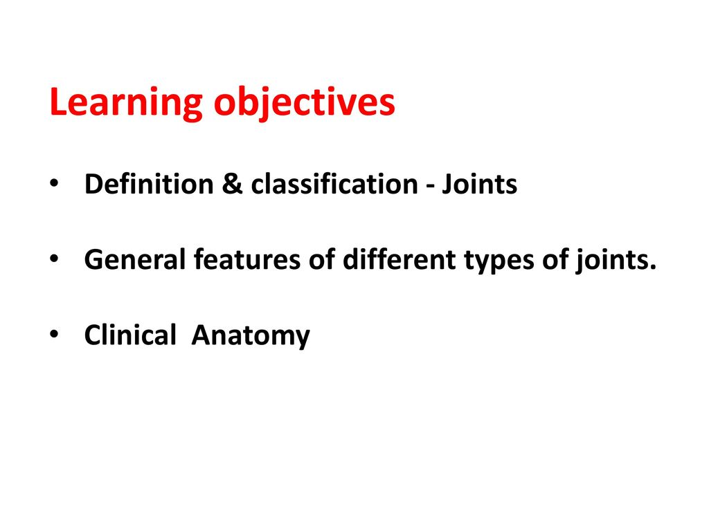 JOINTS Synonyms: Articulations, Junctions. - ppt download