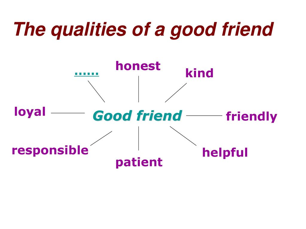 That friend a good qualities make The Top