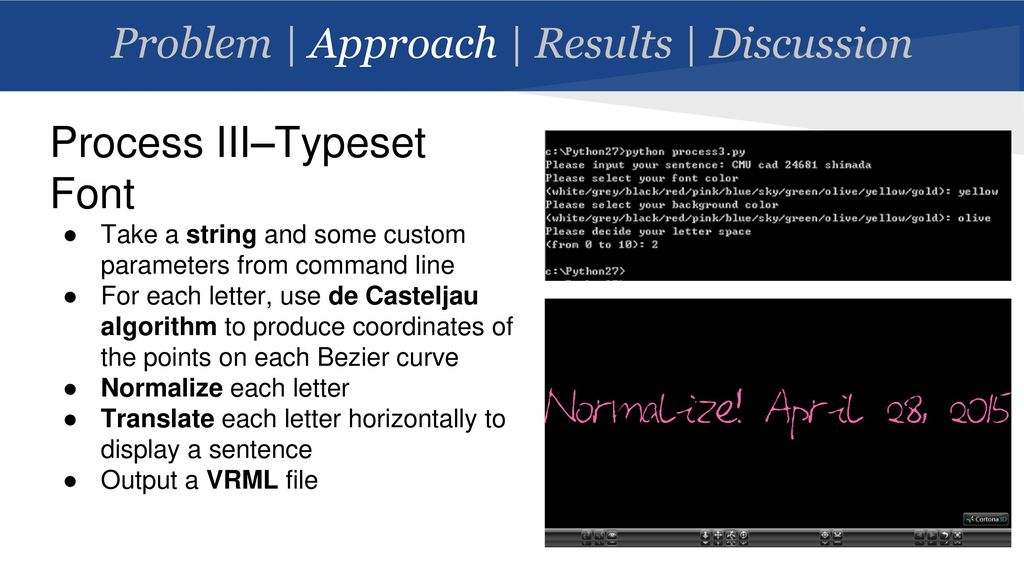 From Bitmap to Bezier: An Approach to Personal Font Generation - ppt