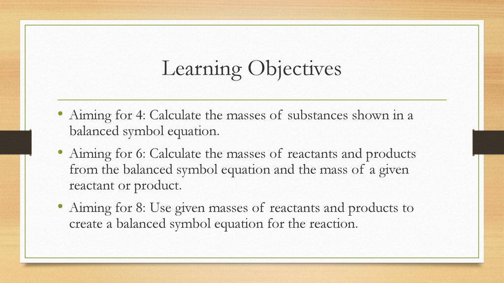 Calculating Reacting Masses Ppt Download