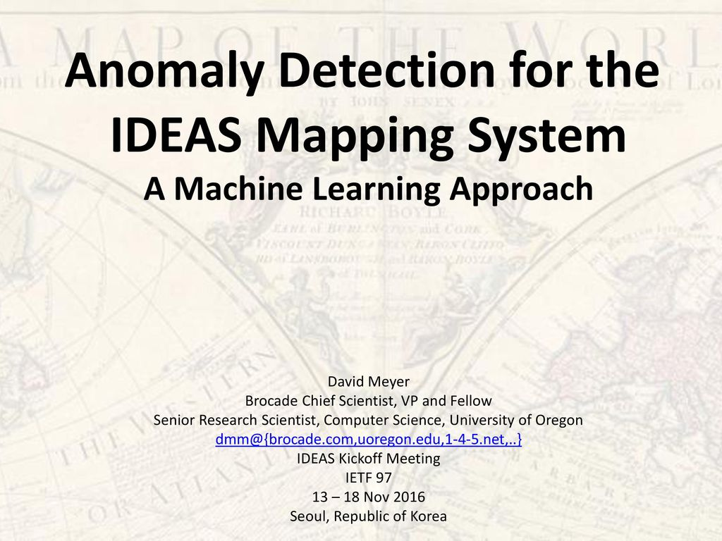 Anomaly Detection for the - ppt download