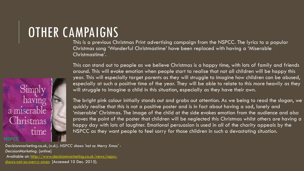 2 other campaigns - Simply Having A Wonderful Christmas Time Lyrics