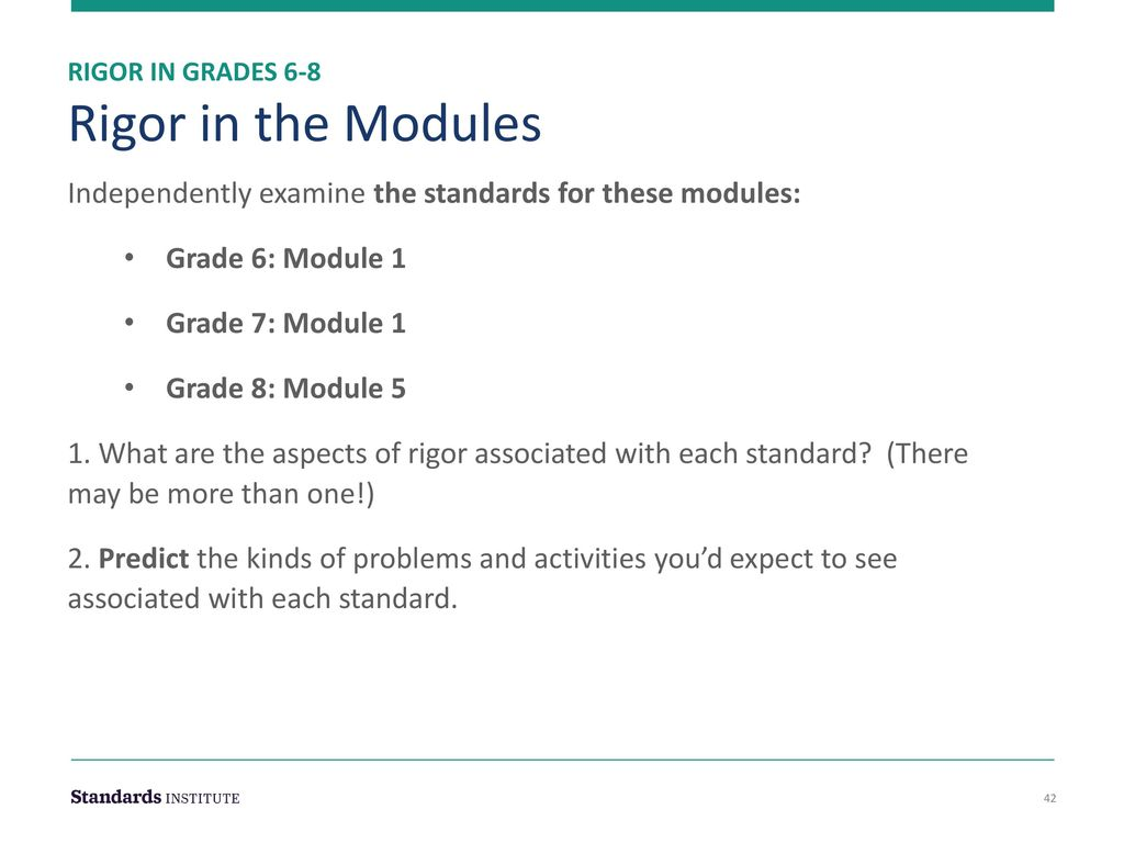 Rigor & Mathematical Practices in Grades ppt download