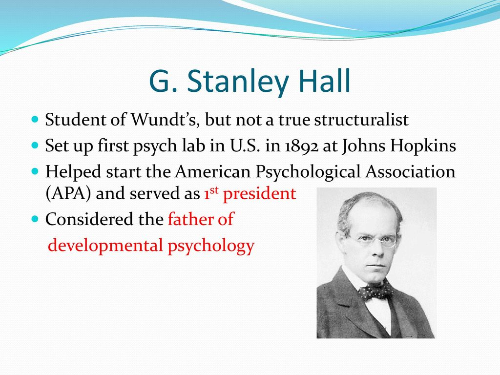 stanley hall contributions to psychology