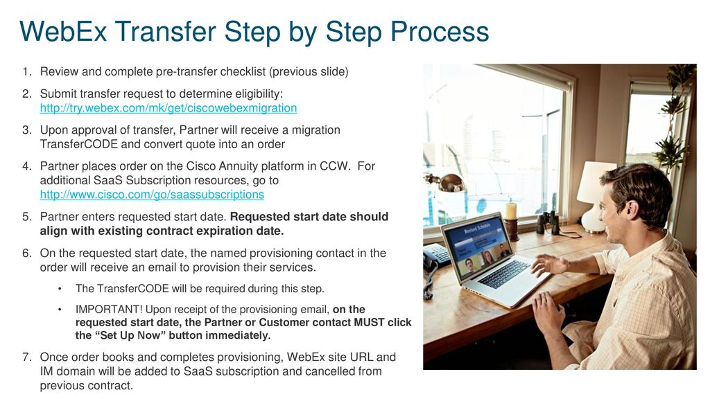 WebEx Transfer Playbook - ppt download