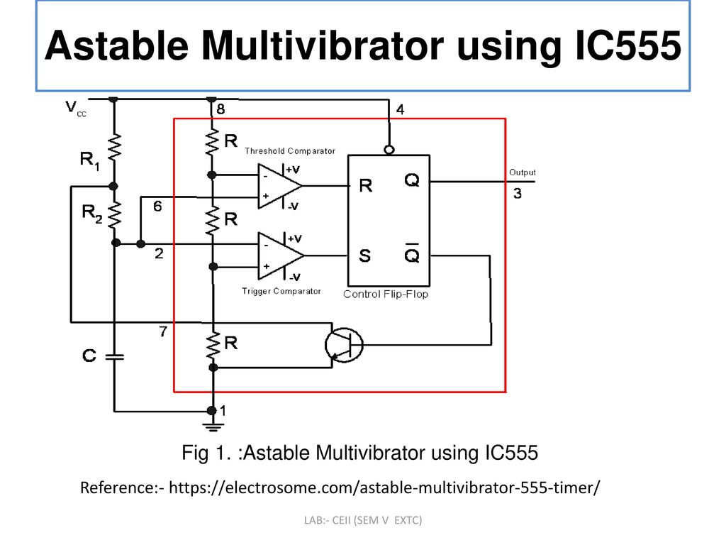 555 Astable Multivibrator Monostable Circuit To Design And Implement Using Ic Ppt 1024x768