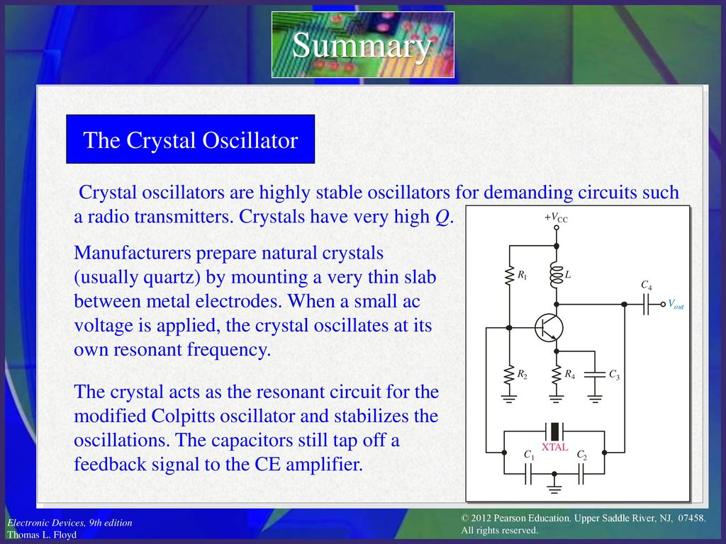 Electronic Devices Ninth Edition Floyd Chapter Ppt Download Crystal Oscillator Circuit The