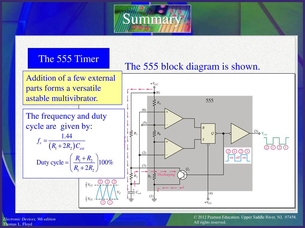 Electronic Devices Ninth Edition Floyd Chapter Ppt Download 741 Astable Timer Summary The 555 Block Diagram Is Shown