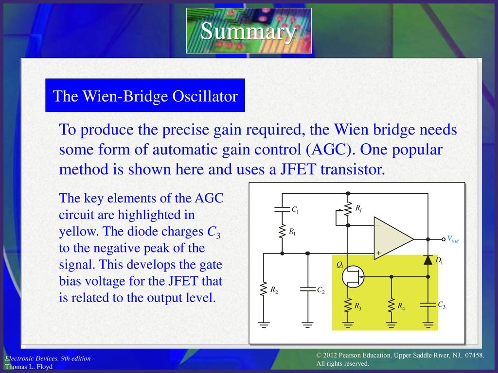 Electronic Devices Ninth Edition Floyd Chapter Ppt Download Transistor Analogue Oscillator Circuits The Wien Bridge