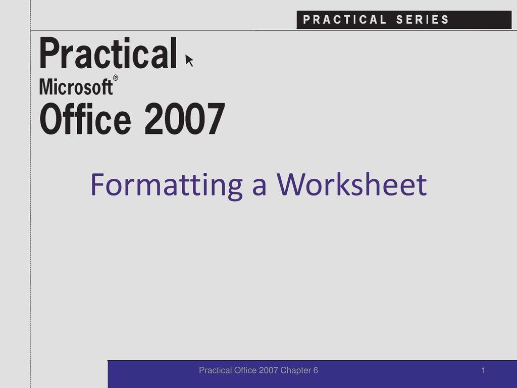 formatting a worksheet ppt download