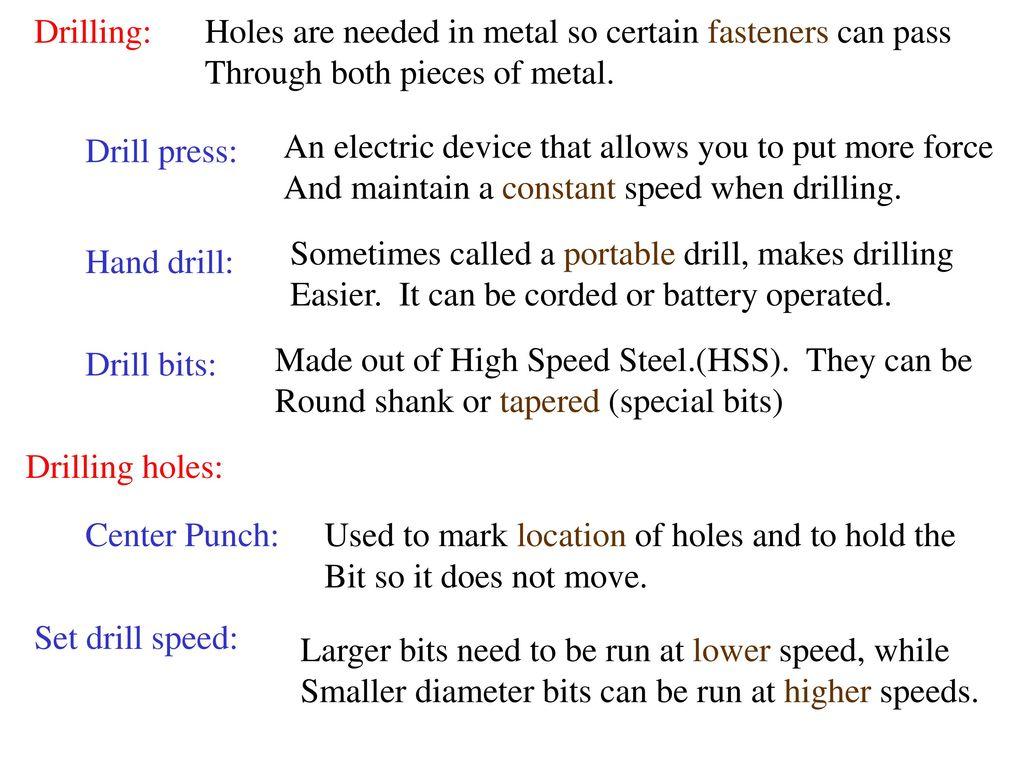 Unit 13 Ag Mechanics Fastening metal  - ppt download