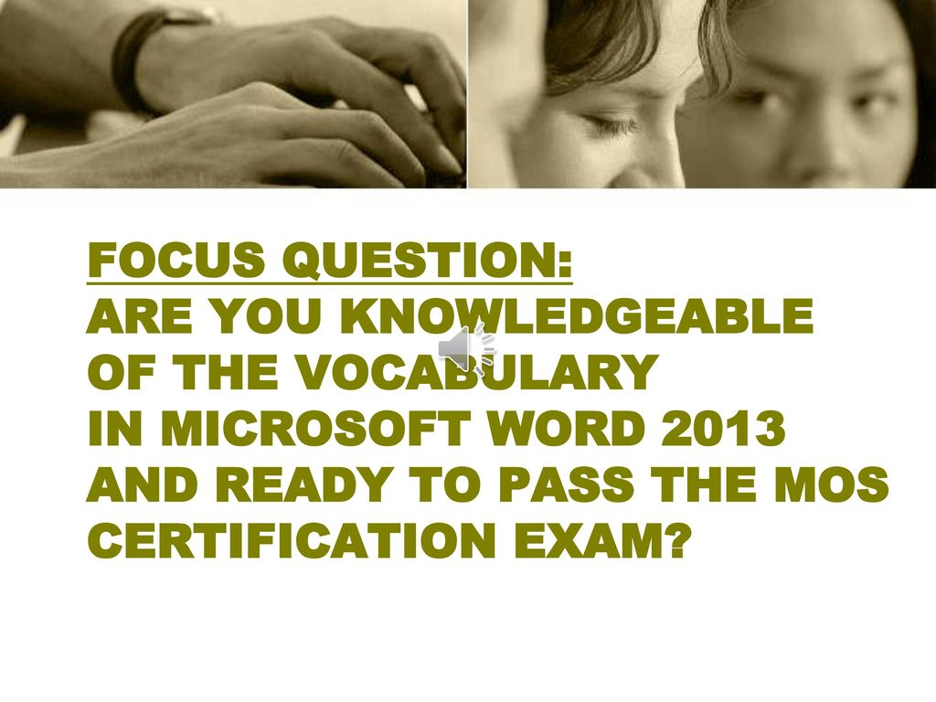 Microsoft Word 2013 Vocabulary Ppt Download