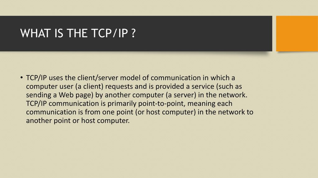 C# TCP/IP COMMINICATION WITH ESP ppt download