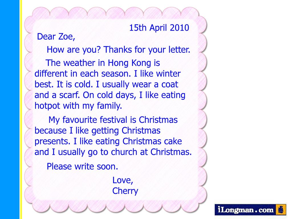 My letter write a friend to Informal Letter