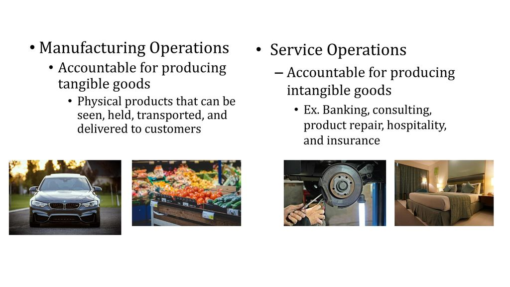 Manufacturing And Service Operations Ppt Download