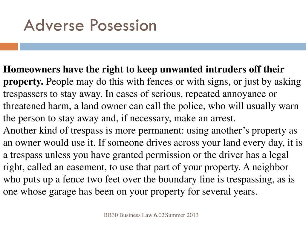 How to Stay on Land Through Adverse Possession recommend
