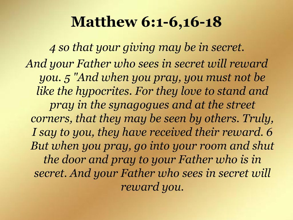 Seeking the Reward Matthew 6:1-6, ppt download