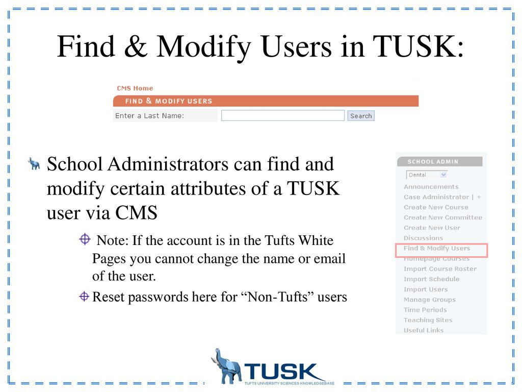 Welcome to TUSK: Administrative Guide - ppt download