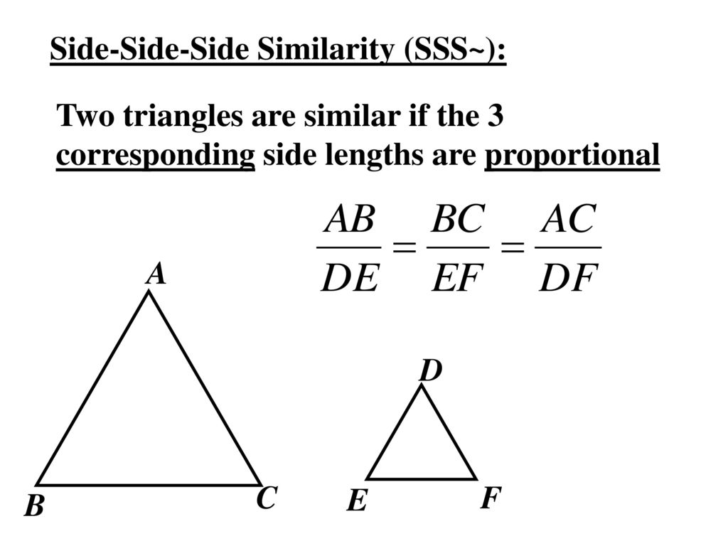 Worksheets Proving Triangles Similar Worksheet 6 5 prove triangles similar by sss and sas ppt download 2