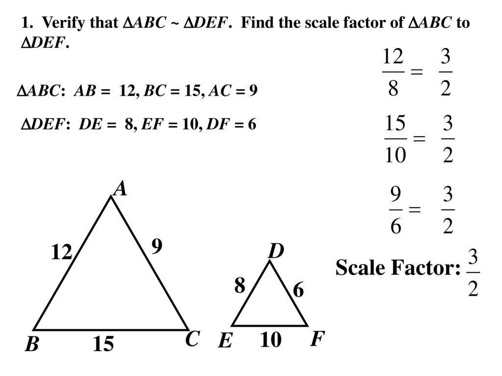 Worksheets Proving Triangles Similar Worksheet 6 5 prove triangles similar by sss and sas ppt download 4 1