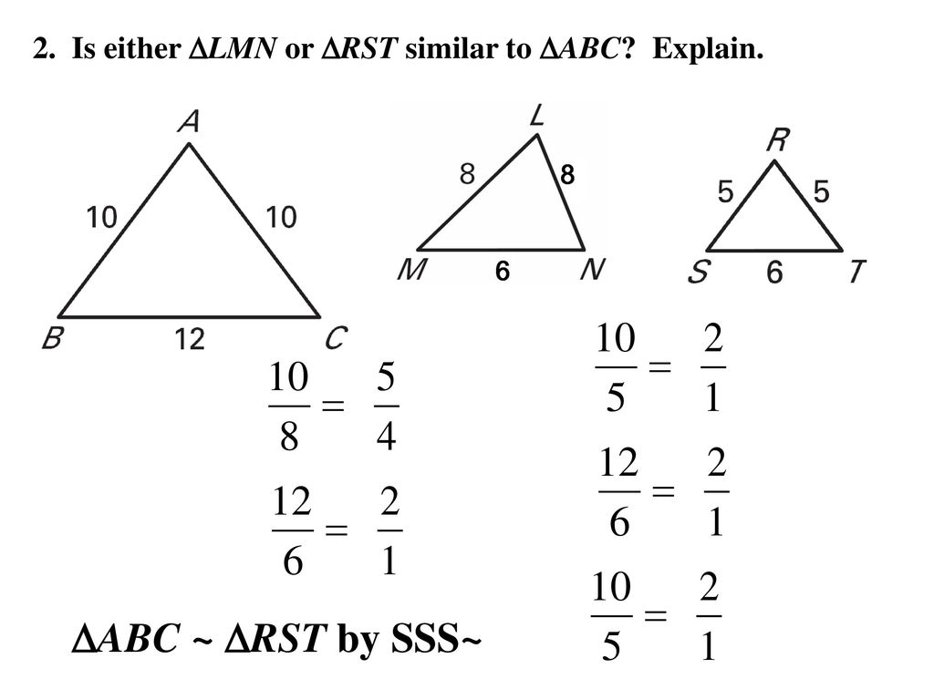 Worksheets Proving Triangles Similar Worksheet 6 5 prove triangles similar by sss and sas ppt download is either or to explain