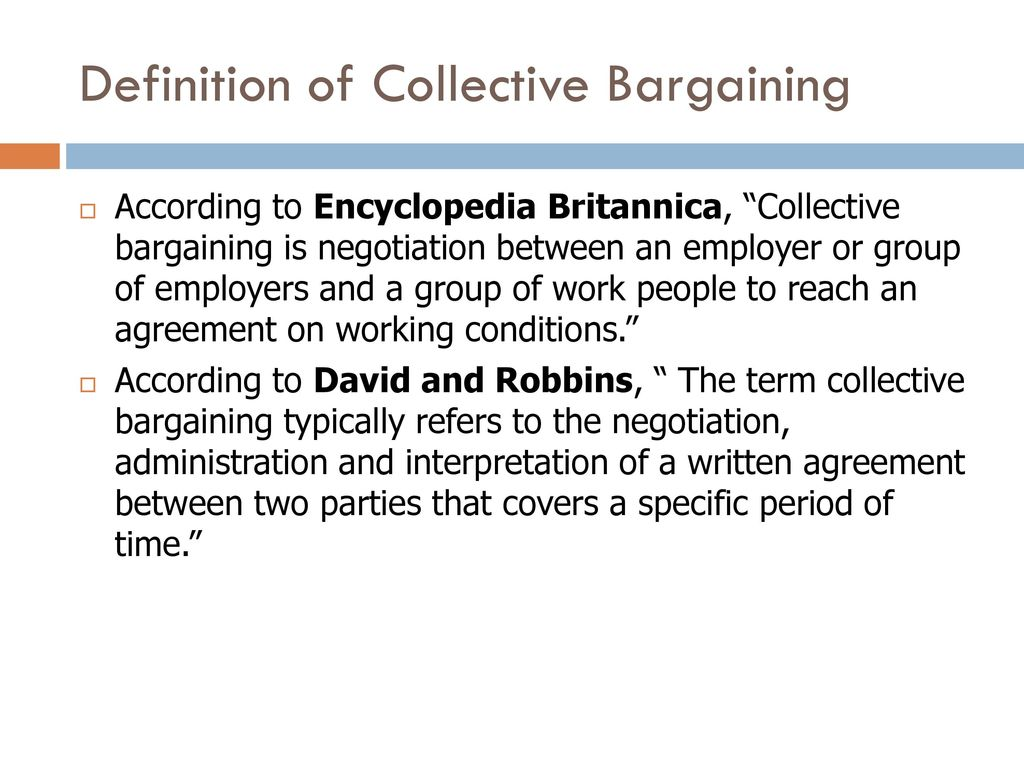 collective bargaining - ppt download