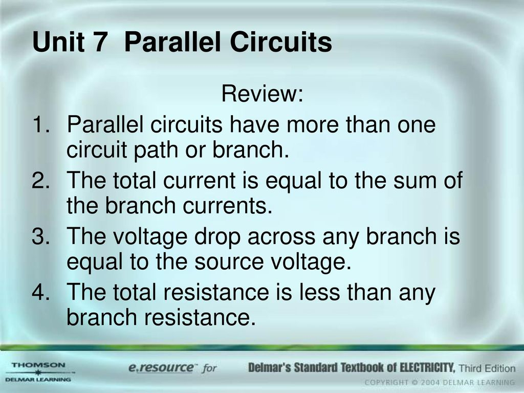 Unit 7 Parallel Circuits Ppt Download Voltage In A Circuit