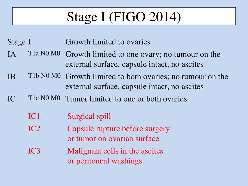 Changes In Figo 2014 Staging Of Ovarian Cancer Ppt Download