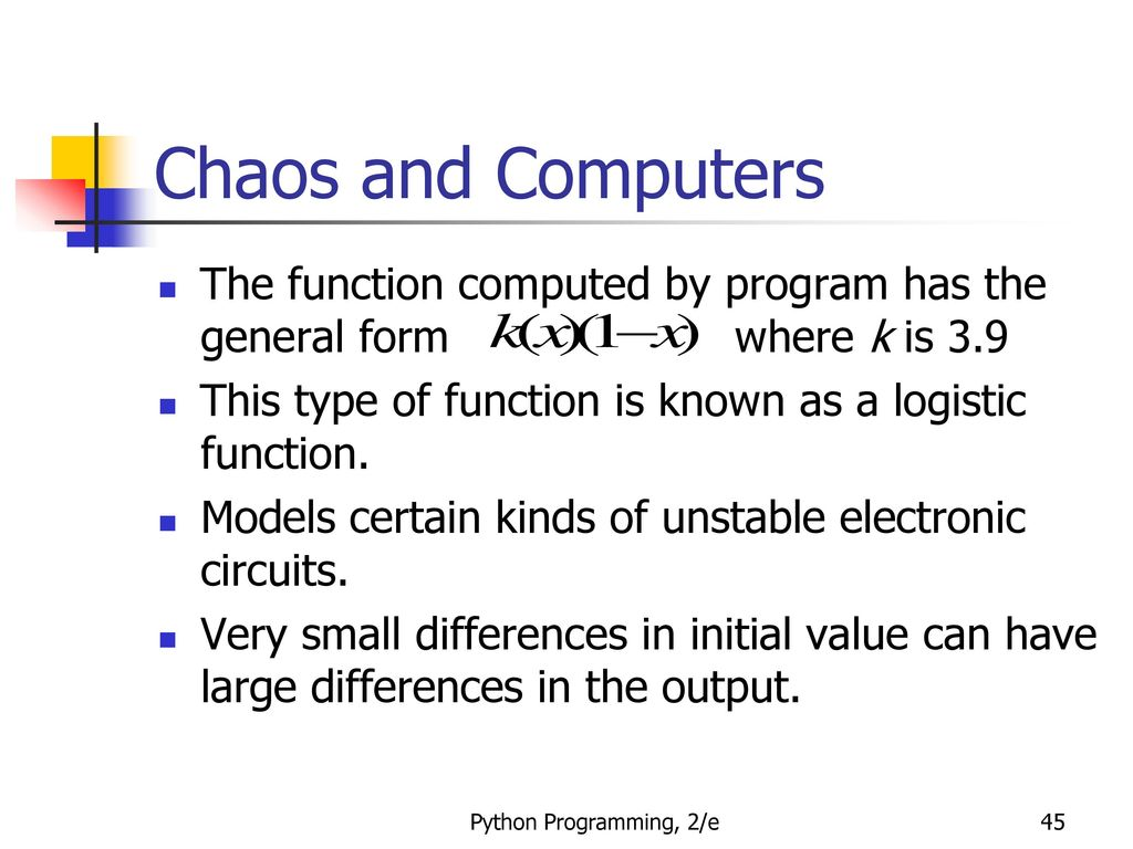 Python Programming An Introduction To Computer Science Ppt Download Parallel Resistor Networks In Java We Define Asuperclass Circuit 45 Chaos