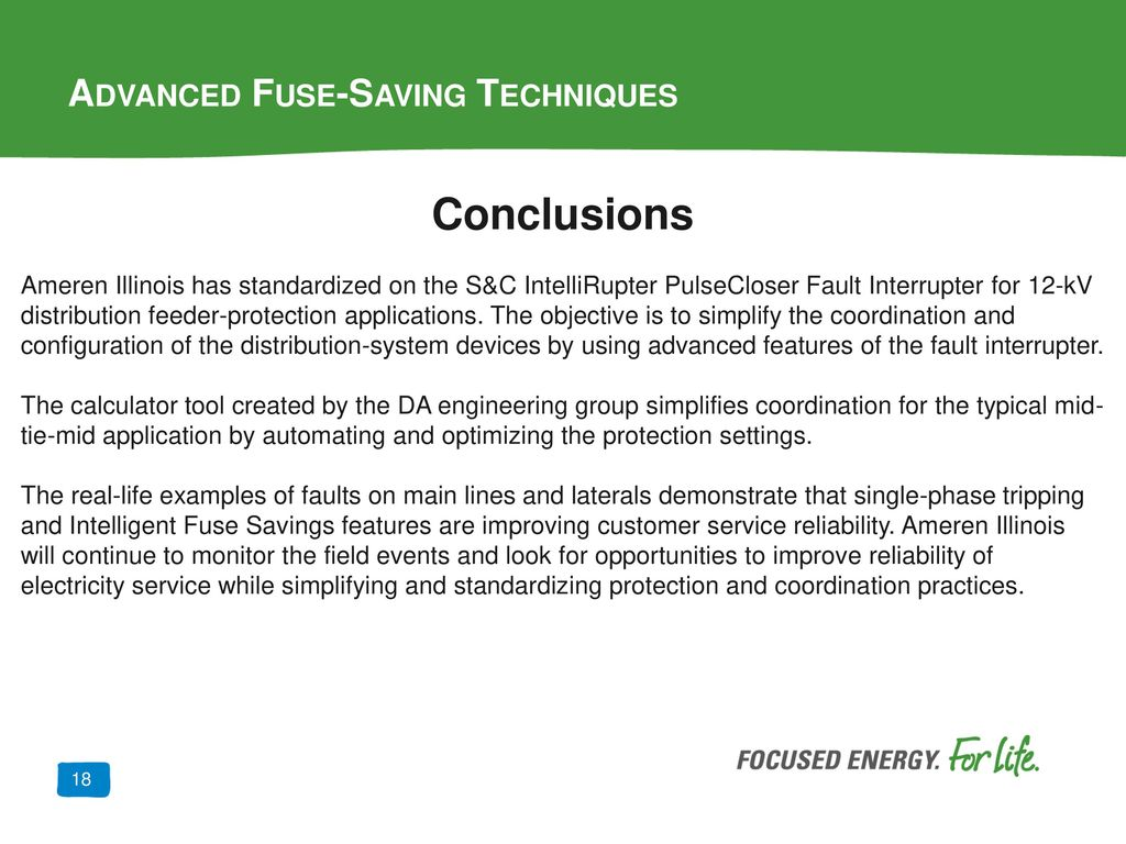 Advanced Fuse-Saving Techniques - ppt download