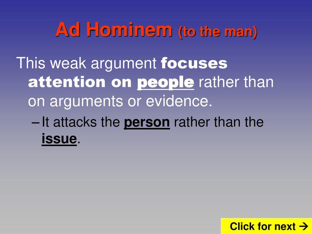 weak argument