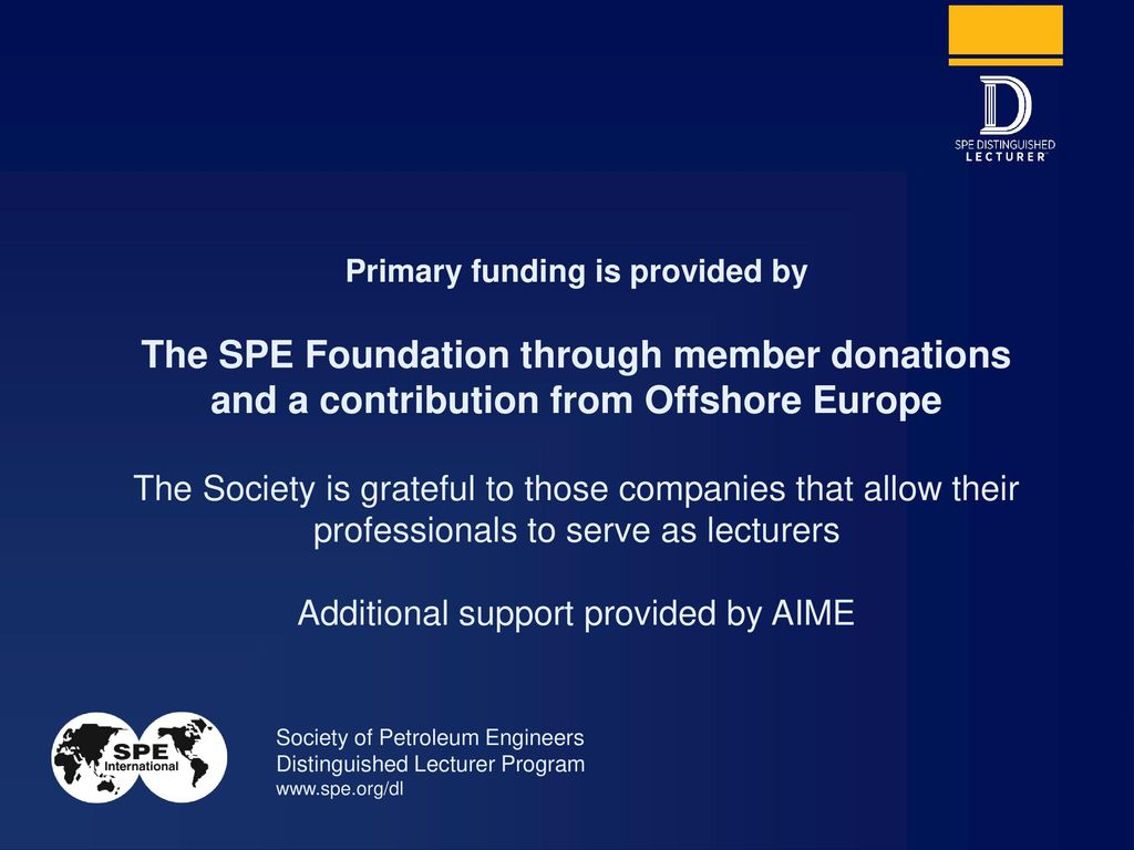 the spe foundation through member donations - ppt download, Spe Presentation Template, Presentation templates