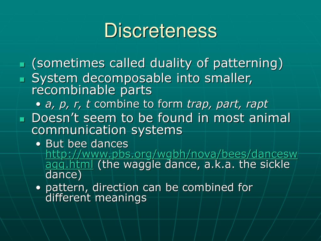 What is discreteness
